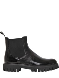 Alberto Guardiani 40Mm Brogue Brushed Leather Ankle Boots