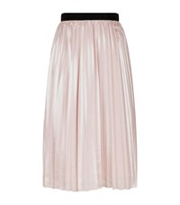 Pinko Metallic Pleated Skirt Female Pink