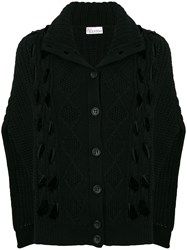 Red Valentino Knitted Cape Cardigan Black