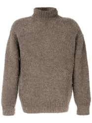 Kazuyuki Kumagai Turtleneck Textured Jumper Brown