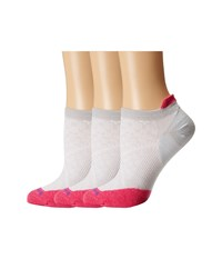 Smartwool Phd Run Ultra Light Micro 3 Pair Pack Silver Bright Pink Women's Crew Cut Socks Shoes White