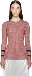 Mary Katrantzou Red Knit Fontaine Sweater