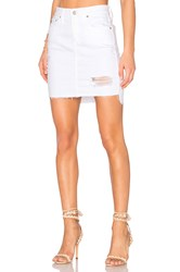Ag Adriano Goldschmied Erin Denim Skirt White Intuition