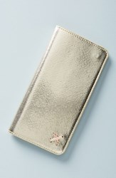 Anthropologie Celeste Travel Wallet Metallic Gold