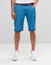 Esprit Chino Shorts With Belt Sky Blue