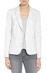 Olivia Moon Women's Knit Blazer White Spacedye