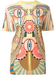 Givenchy 'Crazy Cleopatra' Printed T Shirt Yellow And Orange