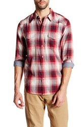 Lucky Brand Classic Western Plaid Shirt Red