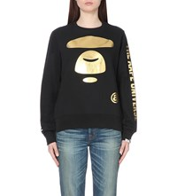 Aape By A Bathing Ape Branded Jersey Sweatshirt Black