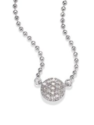Phillips House Affair Micro Infinity Diamond And 14K White Gold Pendant Necklace