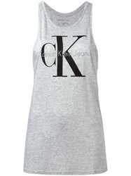 Calvin Klein Jeans Tank Top With Print Grey