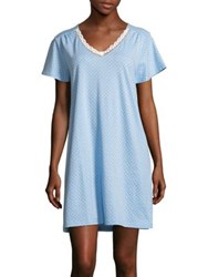 Karen Neuburger Dot Print Short Sleeve Nightgown Blue Dot