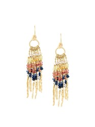 Natasha Collis Multi Rod Sapphire Earrings Metallic