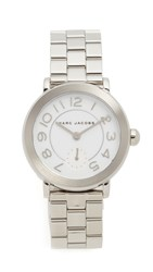 Marc Jacobs Riley Watch Silver White