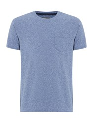 Linea Austin Cotton Crew Neck T Shirt Blue