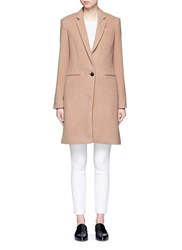 Rag And Bone 'Emmet Crombie' Felted Wool Blend Coat Brown