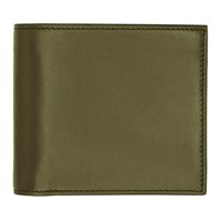 Smythson Green Id Pocket Bond Bifold Wallet