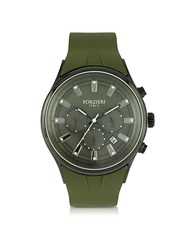 Forzieri Falcon Chrono Men's Watch W Rubber Strap Military Green