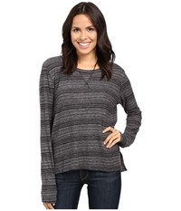 Project Social T Stormy Stitched Sweater Charcoal Space Dye Women's Sweater Gray