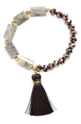 Panacea Women's Crystal And Tassel Stretch Bracelet