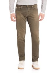 Ag Jeans Matchbox Faded Slim Straight Fit Two Year Army Green