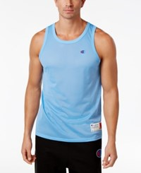 Champion Men's Mesh Tank Top Swiss Blue