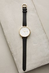 Anthropologie Luton Leather Watch Black