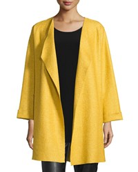 Caroline Rose Lana Fantasia Topper Coat Sunset Gold