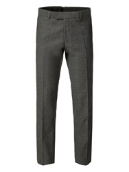 Alexandre Of England Men's Easton Grey Donegal Slim Trouser Grey