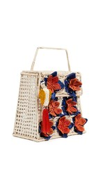 Mercedes Salazar Woven Tote Natural Blue