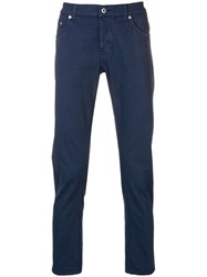 Dondup Slim Fit Trousers Blue
