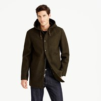 J.Crew Hooded Coach's Jacket In Wool