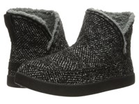 Sanuk Cush N' Blaze Black Chevron Knit Women's Pull On Boots