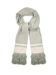 Isabel Marant Cover Fringed Cashmere Scarf Grey