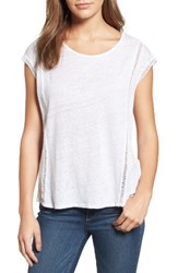 Vince Camuto Women's Two By Linen Tee Ultra White