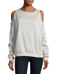 Necessary Objects Cold Shoulder Sweatshirt Pale Grey