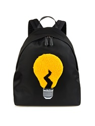 Fendi Lamp Shearling And Nylon Backpack