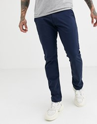 Esprit Slim Fit Chino In Navy Blue