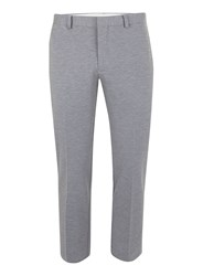 Topman Blue Light Grey Cropped Skinny Fit Dress Pants