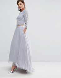 Coast Batilda Tulle Skirt Gray