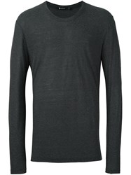 Alexander Wang T By Long Sleeved T Shirt Grey