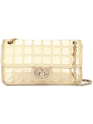 Chanel Vintage Ice Cube Cc Logo Chain Shoulder Bag Gold