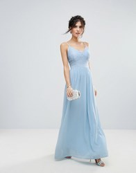 Club L Corset Lace Detail Maxi Dress Pale Blue