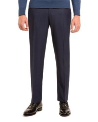 Stefano Ricci Super 160S Wool Flat Front Trousers Navy