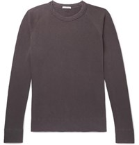 James Perse Loopback Supima Cotton Jersey Sweatshirt Purple