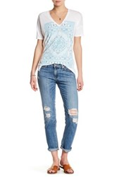 Lucky Brand Sienna Distressed Cigarette Jean Blue