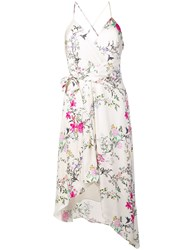 Equipment Floral Asymmetric Dress White