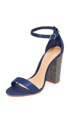 Schutz Hara Strappy Heels Dress Blue