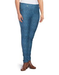 Michael Michael Kors Plus Classic Wash Denim Leggings Monterey Blue