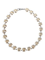 Bottega Veneta Cubic Zirconia And Silver Necklace Crystal